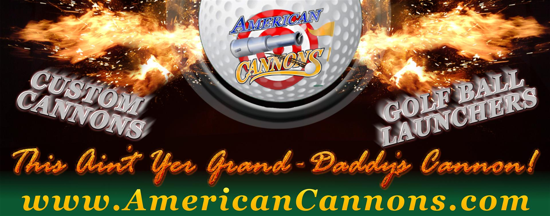 American Cannons Black Powder Golf Ball Launching Cannons